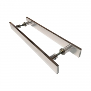 Puxador para porta de madeira e vidro modelo 7003 32x60 cromado