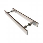 Puxador para porta de madeira e vidro modelo 7003 32x80 cromado