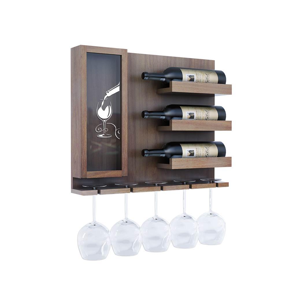 Adega para vinho modelo 3V em Cumaru laminado