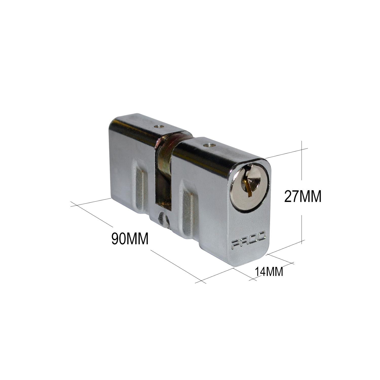 Cilindro Pado Tradicional Para Fechadura 90mm Cromado