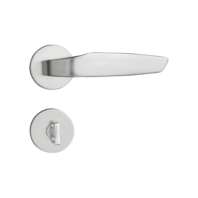 Fechadura Banheiro Pado Ibiza Roseta Redonda Escovada 55mm