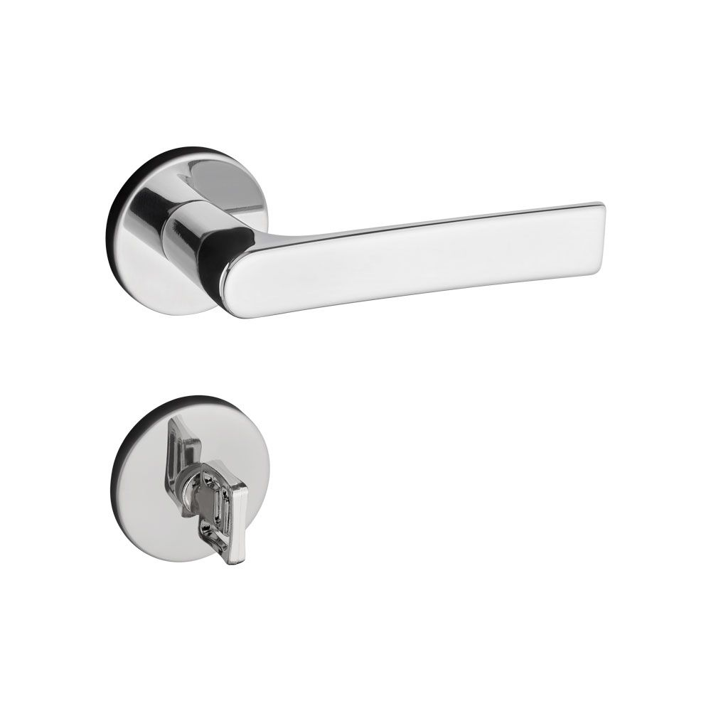 Fechadura Banheiro Pado Mari Roseta Redonda Cromada 40mm