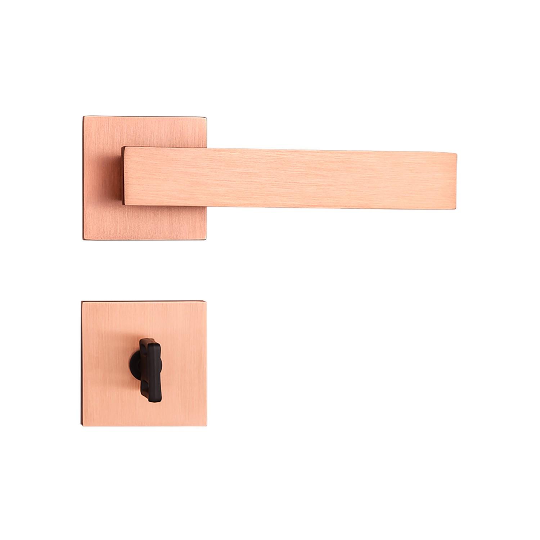 Fechadura Banheiro Pado Retro Roseta Quadrada Rose 55mm