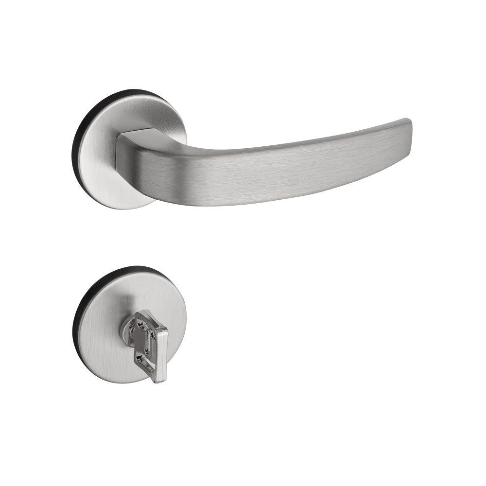 Fechadura Banheiro Pado Vic Roseta Redonda Escovada 40mm