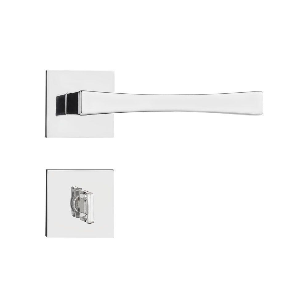 Fechadura Banheiro Pado Vivaldi Roseta Quadrada Cromada 55mm