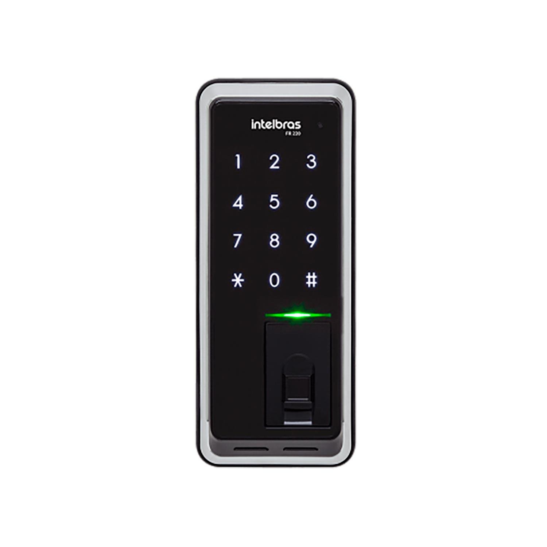 Fechadura digital de sobrepor Intelbras fr 220 com biometria e senha