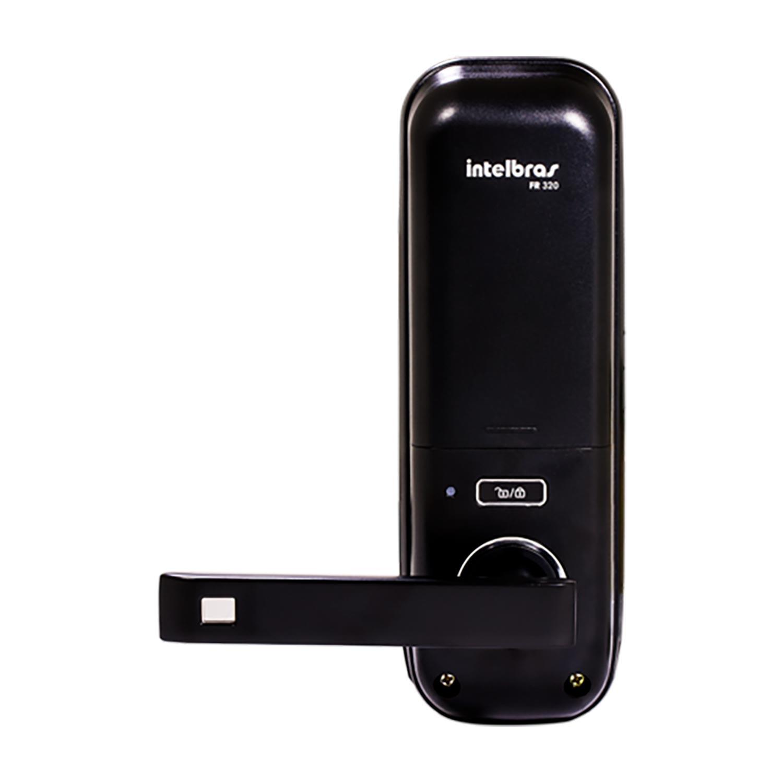 Fechadura digital de embutir Intelbras fr 320 com biometria e senha