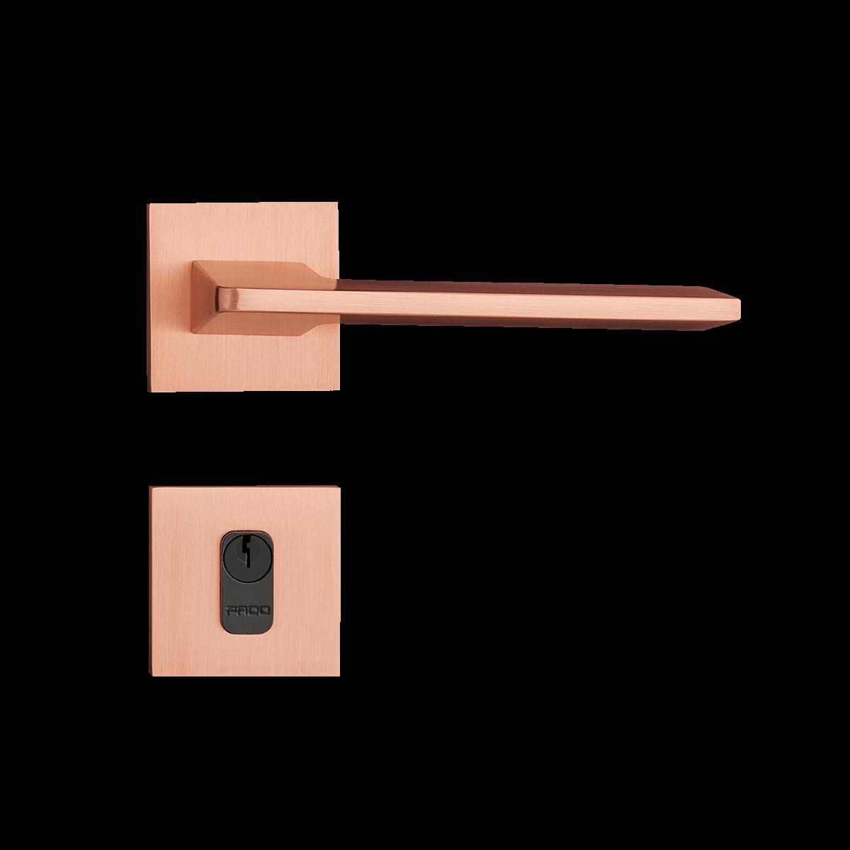 Fechadura Externa Pado Sara Roseta Quadrada Rose 55mm