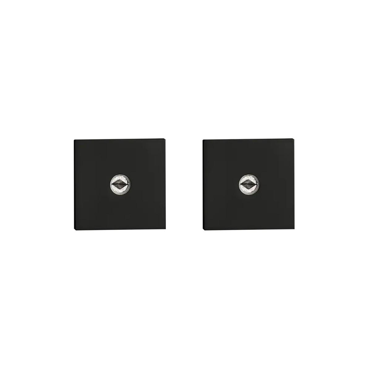Fechadura auxiliar pado tetra 11500 roseta quadrada preta - dupla