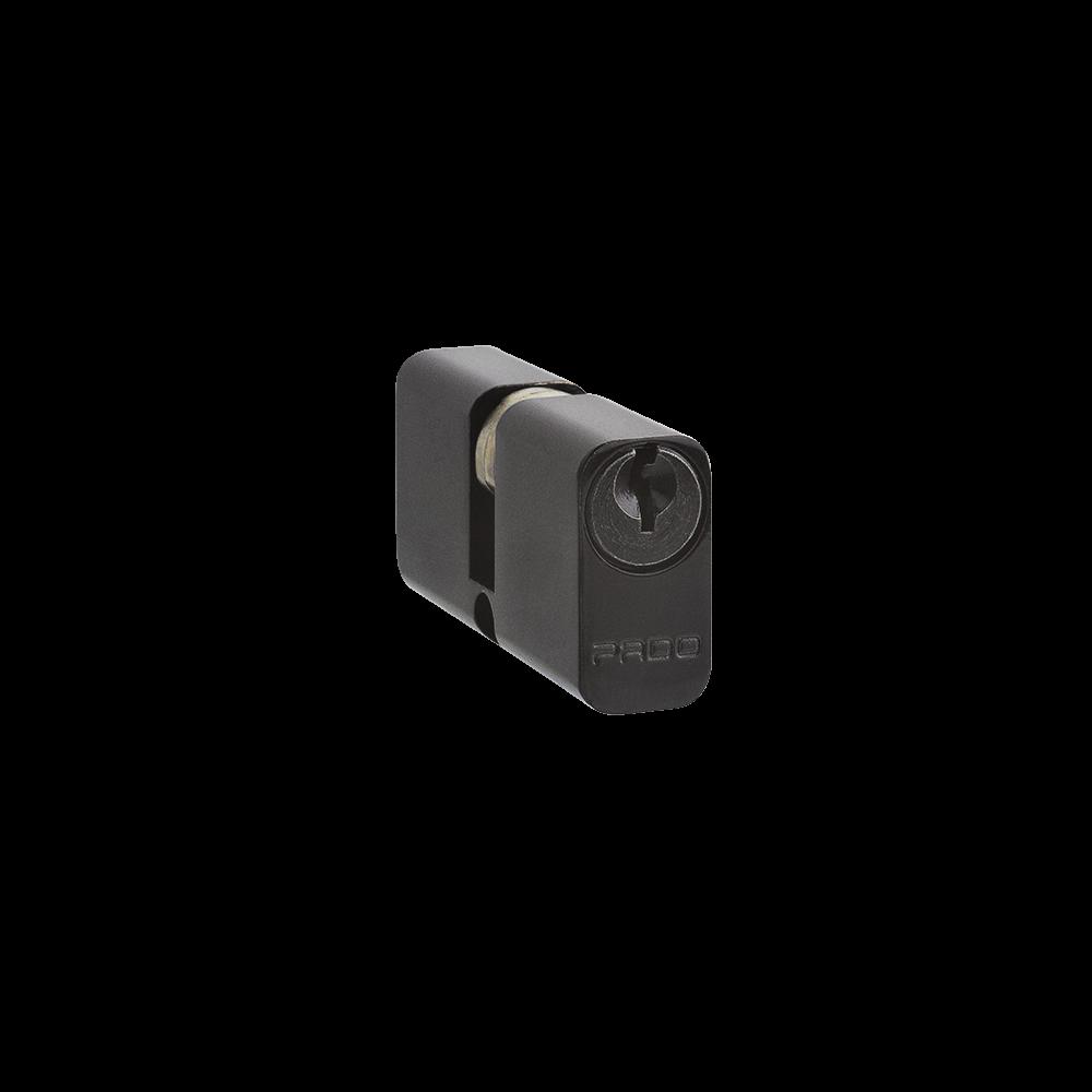Fechadura pado retro externa preta com cilindro de 74mm
