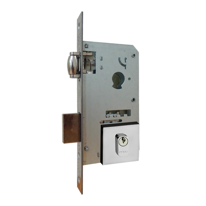 Fechadura Pado Rolete 55mm Para Porta Pivotante Com Cilindro de 7.4 cm CR