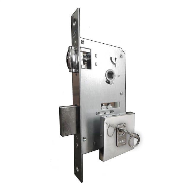 Fechadura Pado Rolete Para Porta Pivotante Com Cilindro de 7.4 cm CR