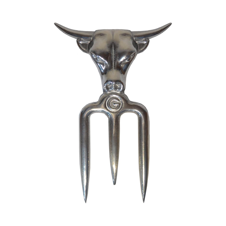 Garfo 3 Dentes para Churrasco em Alumínio Cromado
