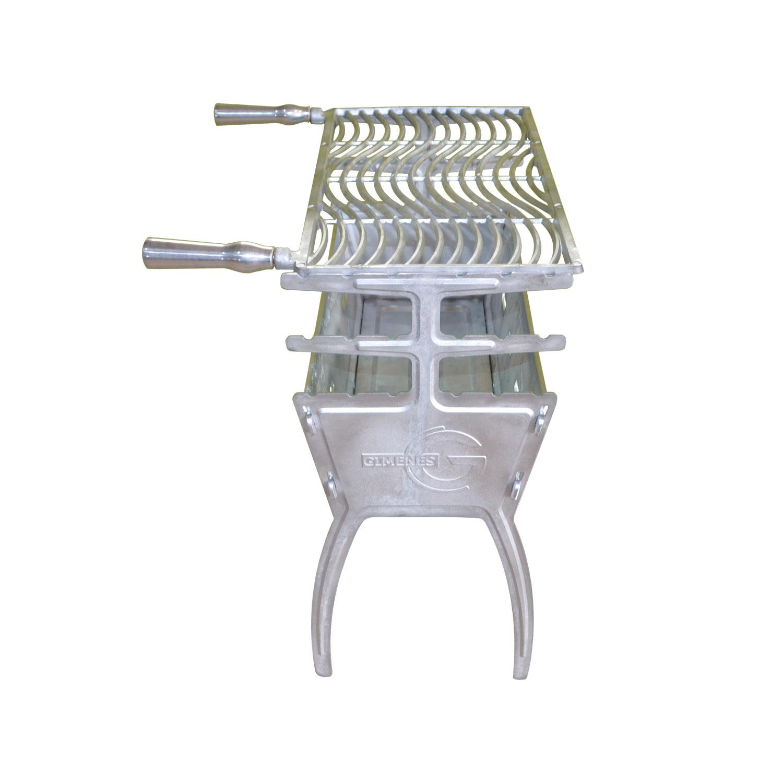 kit Churrasqueira desmontável 81cm alumínio 02 Grelhas