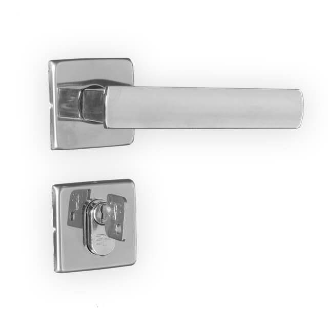 Kit Fechadura 3F Design CR: 1 Banheiro e 2 Externa