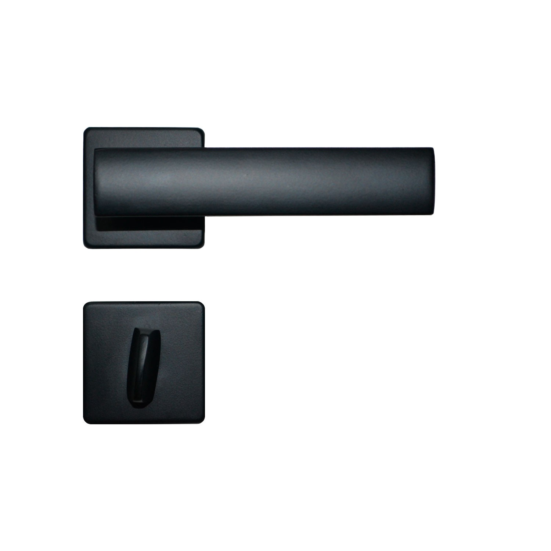 Kit Fechadura Imab Metro Light Preta 5 Internas 5 Banheiro