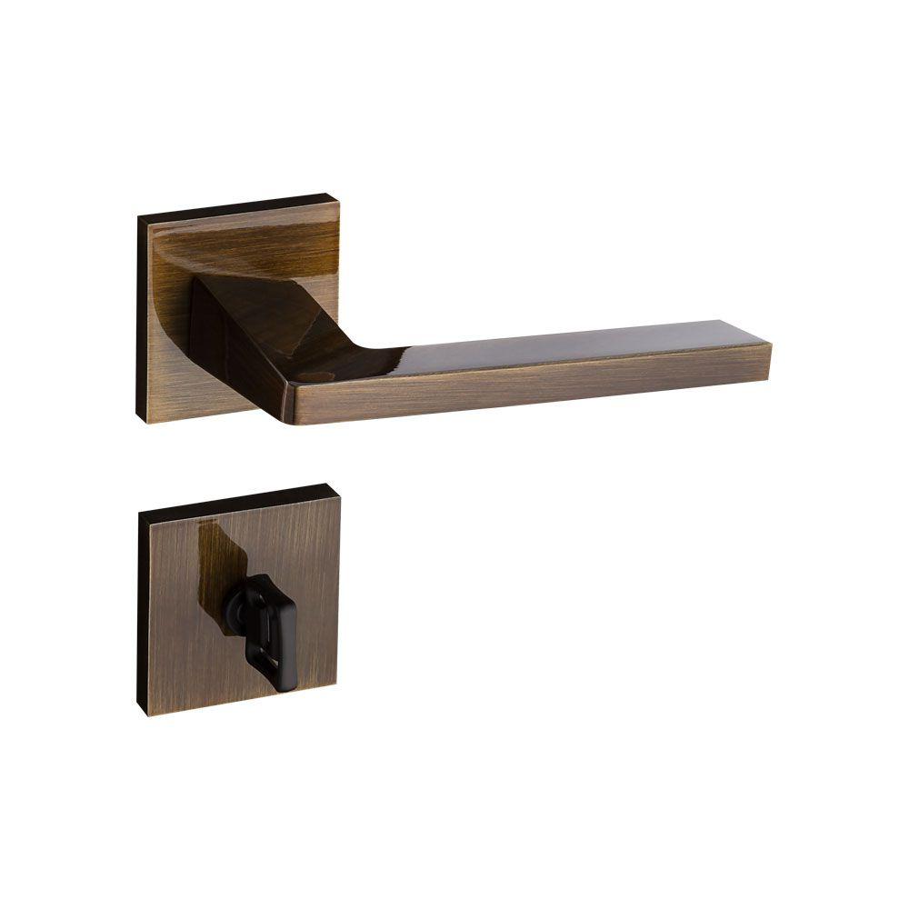 Kit Fechadura Karli bronze 1 Banheiro 3 Externa e 1 Rolete ept 55