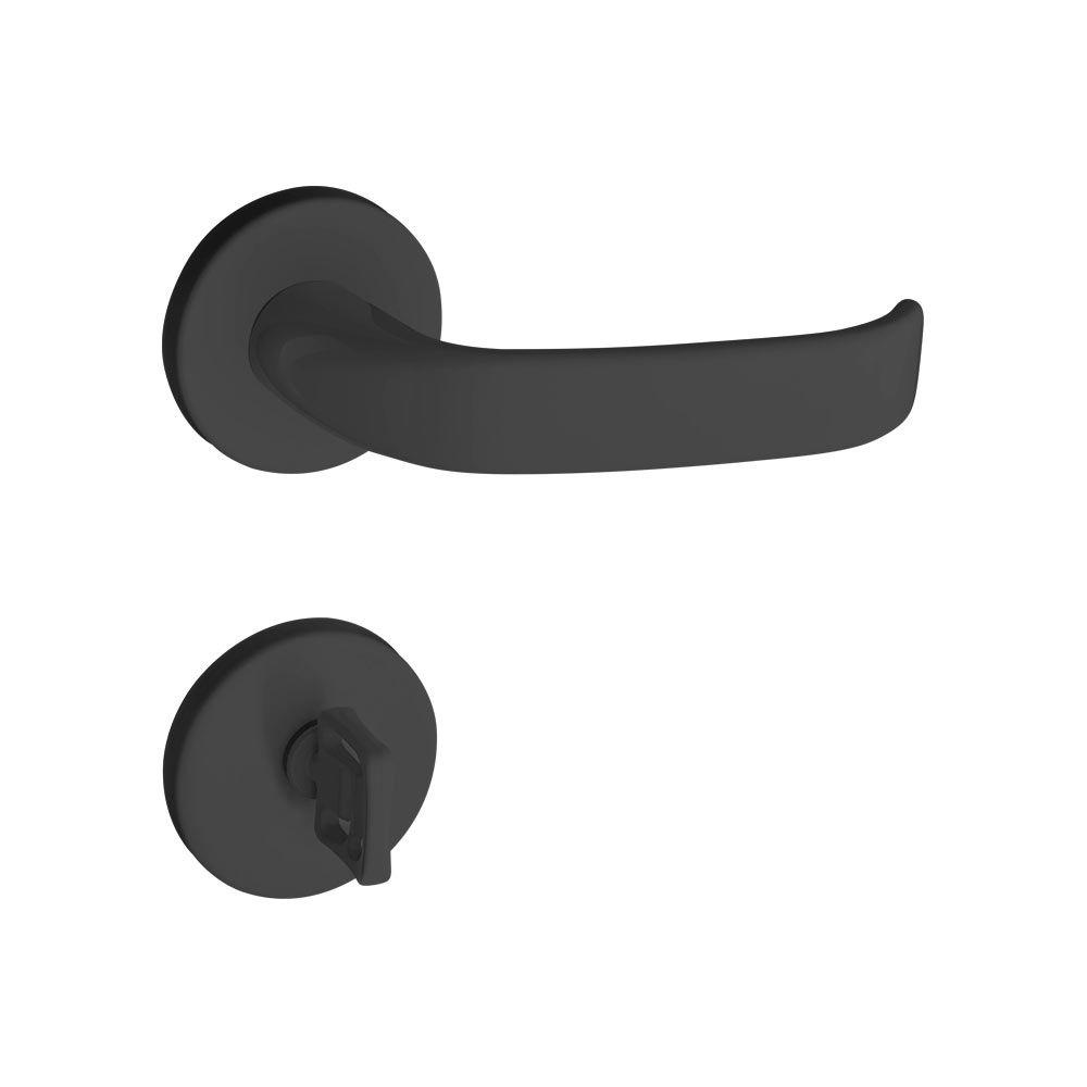 Kit fechadura pado magnum preta 03ext/int 02banheiro