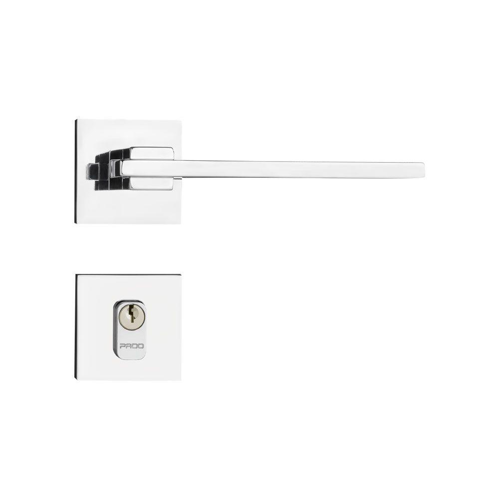 Kit Fechadura Pado Nina CR 55mm: 3 Banheiro, 6 Internas e 1 Externa.
