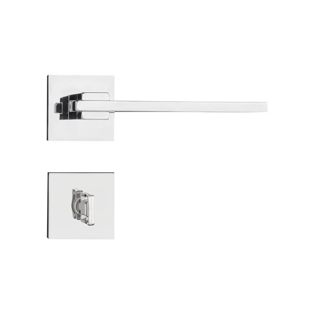Kit Fechadura Pado nina cromada 55mm: 3 banheiro e 4 internas.