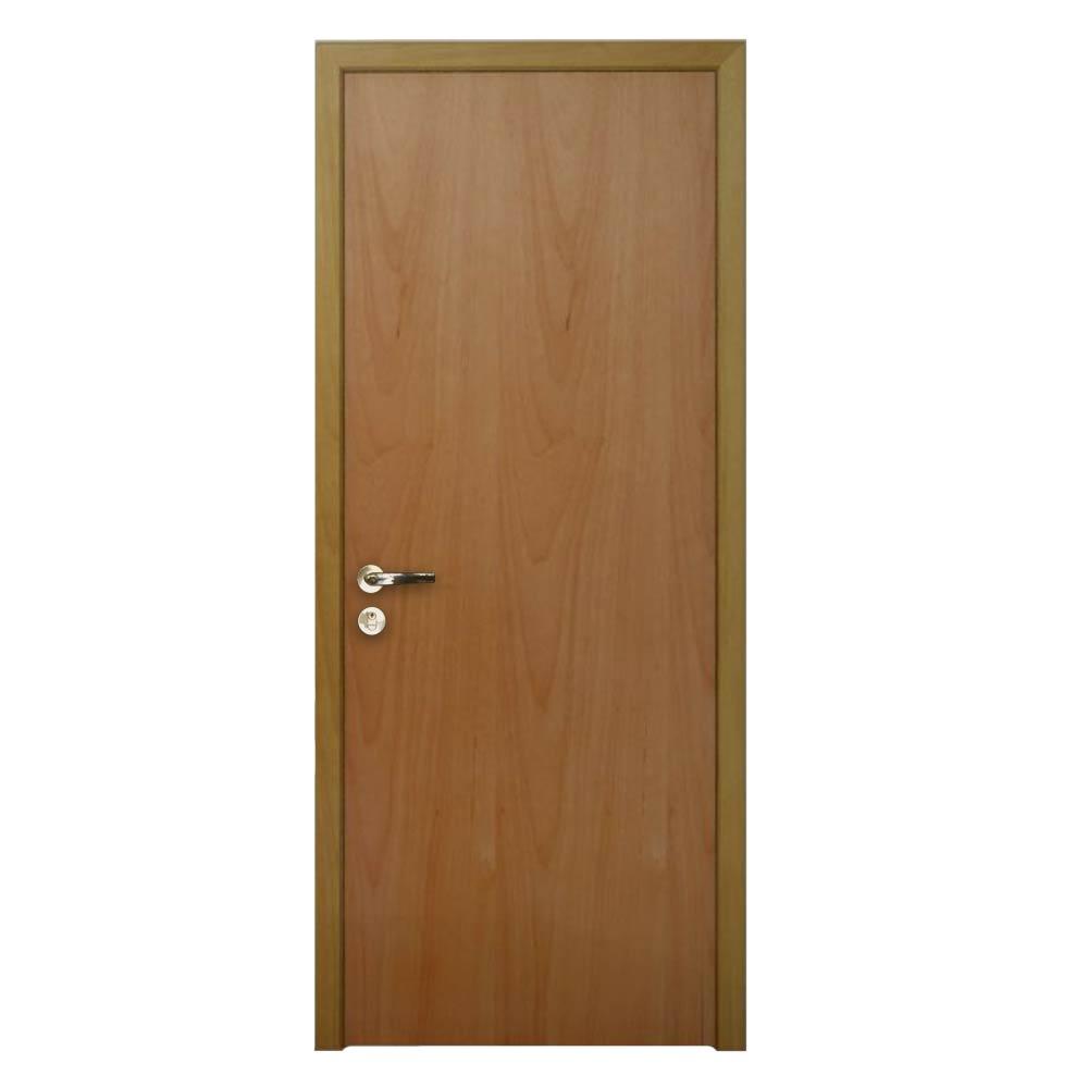 Kit Porta de Madeira Lisa em tauari-Ótima portas