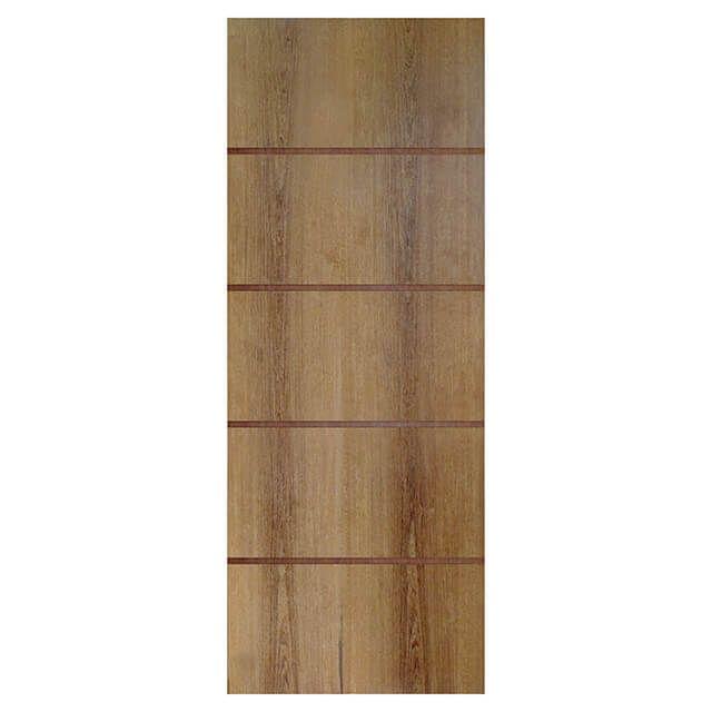 Porta de madeira laminada com friso decorativo PLF - 04 Goiabão