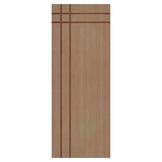 Porta de madeira laminada com friso decorativo PLF - 16 Angelim
