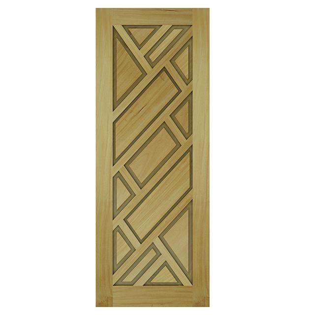 Porta de madeira maciça almofadada modelo pm - 06 Garapeira