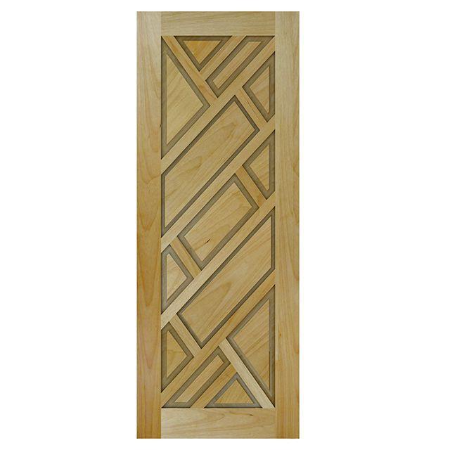 Porta de madeira maciça almofadada modelo pm - 06 Tauari
