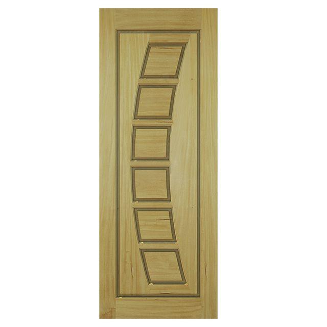 Porta de madeira maciça almofadada modelo pm - 190 Garapeira