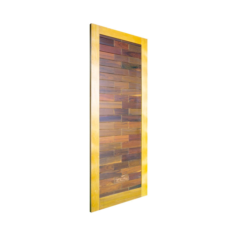 Porta de madeira maciça pm base 516 - 80x210cm