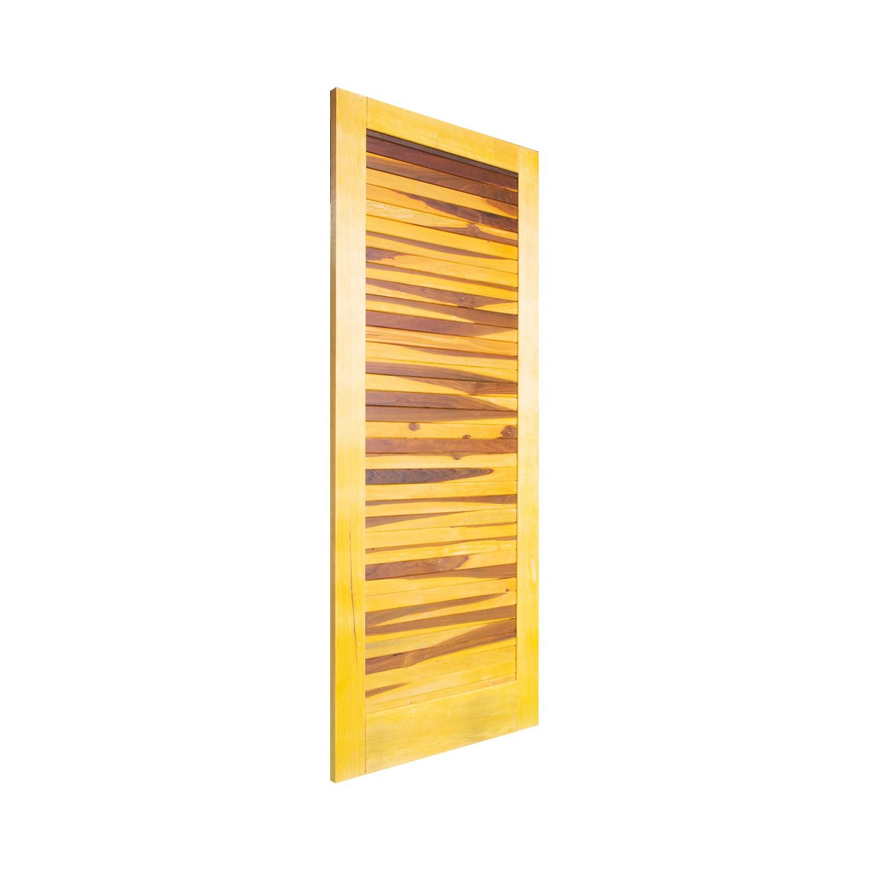 Porta de madeira maciça pm base 517 - 80x210cm