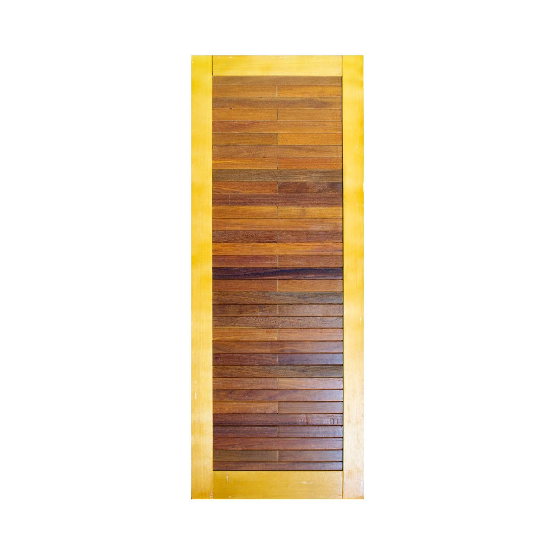 Porta de madeira maciça pm base 519 - 80x210cm