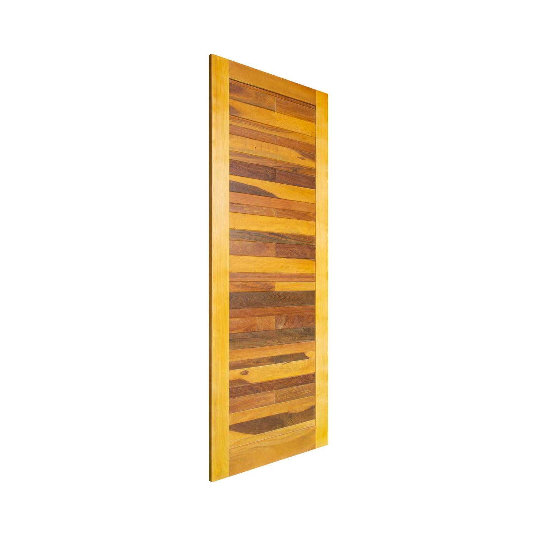 Porta de madeira maciça pm base 522 - 80x210cm