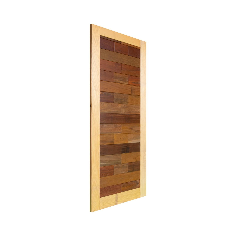 Porta de madeira maciça pm base 523 - 80x210cm