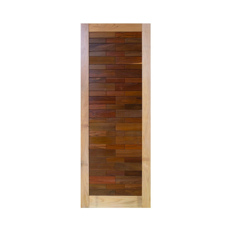 Porta de madeira maciça pm base 526 - 80x210cm