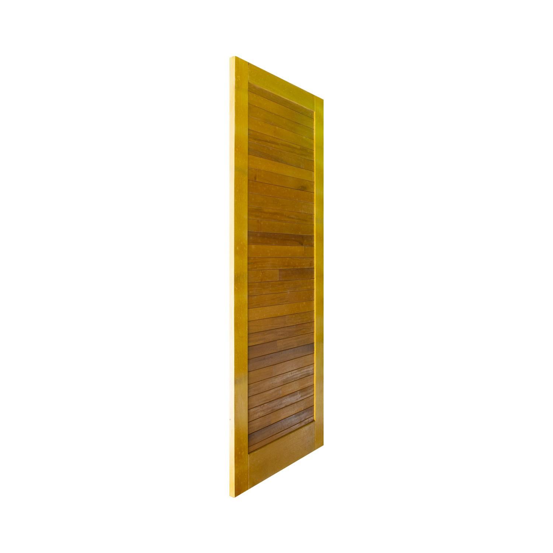 Porta de madeira maciça pm line 512 - 80x210cm