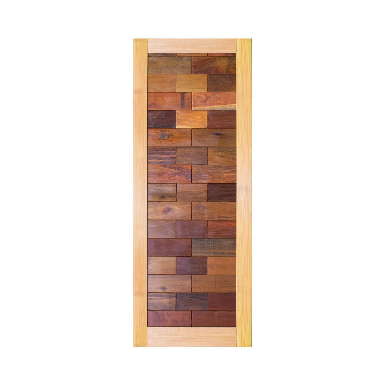 Porta de madeira maciça pm malber 505 - 80x210cm