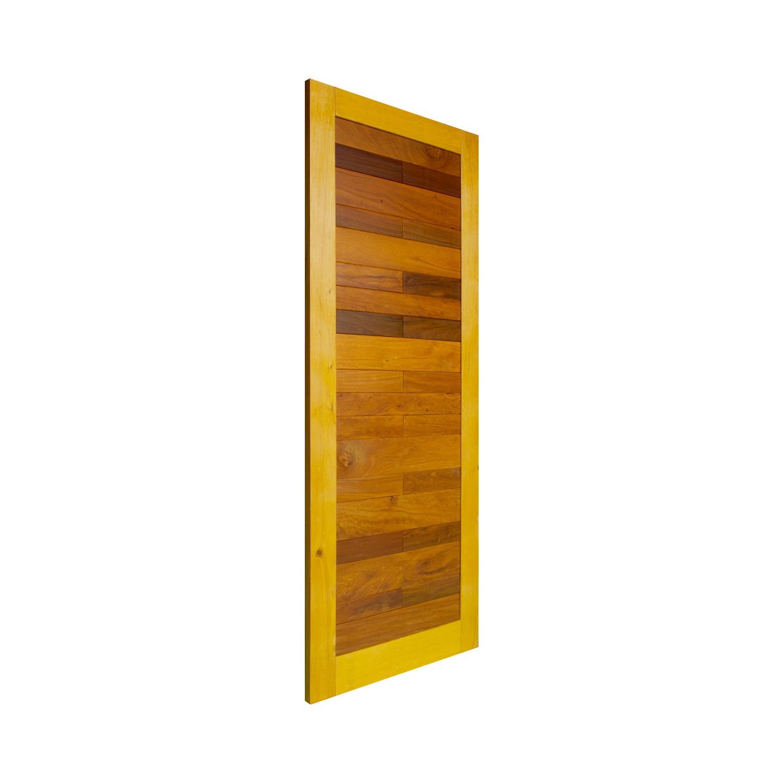 Porta de madeira maciça pm malber 520 - 80x210cm