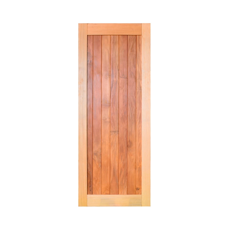 Porta de madeira maciça pm mexicana 501 - 80x210cm