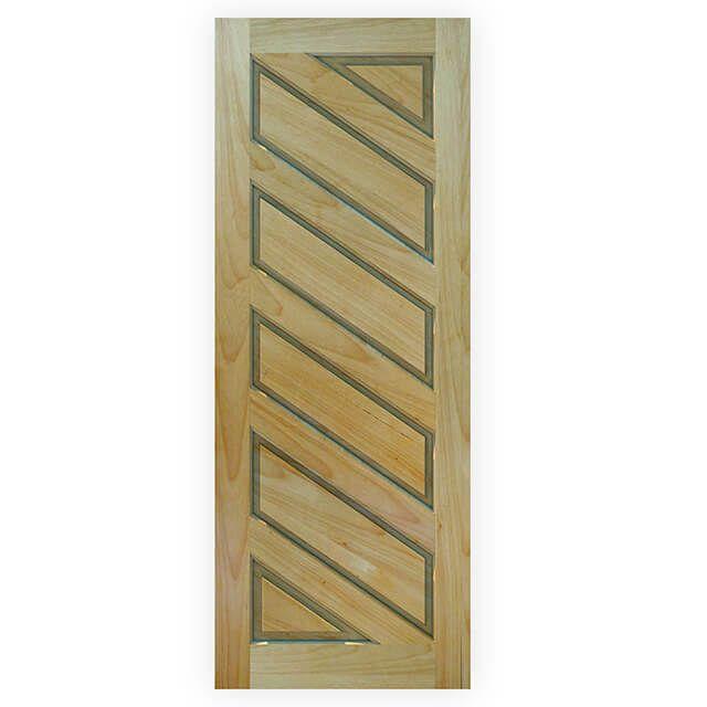 Porta de madeira maciça almofadada modelo pm - 08 Tauari