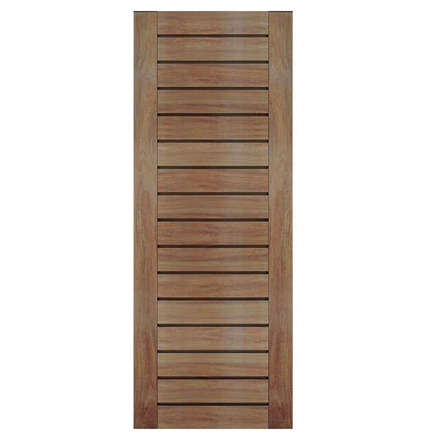 Porta de madeira maciça almofadada modelo pm - 100 Cumaru