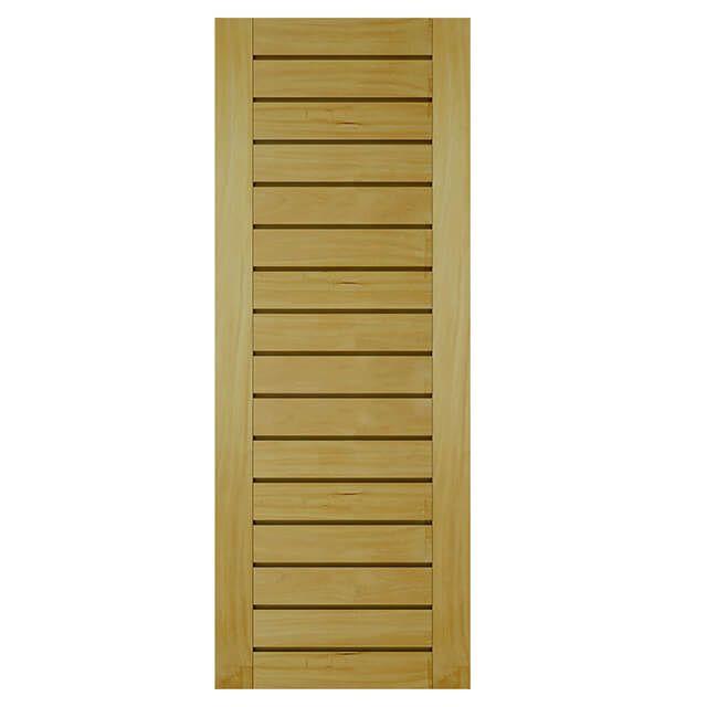 Porta de madeira maciça almofadada modelo pm - 100 Garapeira