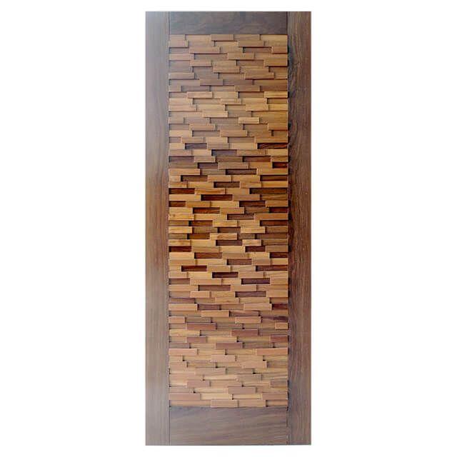 Porta de madeira maciça revestida modelo pm-23 Cumaru