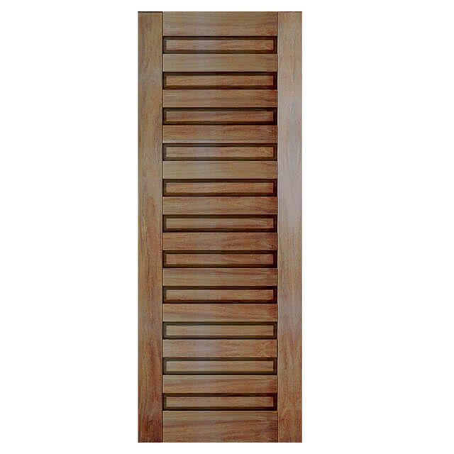 Porta de madeira maciça almofadada modelo pm - 200 Cumaru