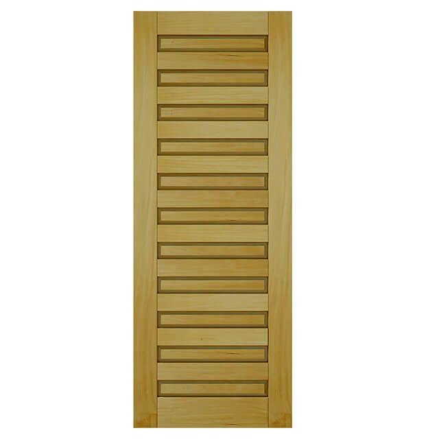 Porta de madeira maciça almofadada pm - 200 Garapeira