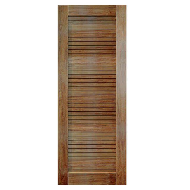 Porta de madeira maciça almofadada modelo pm - line Cumaru