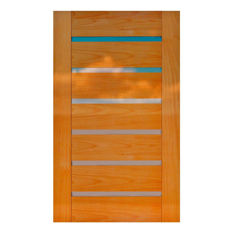 Porta Pivotante de Madeira Maciça  Modelo pp-22 em Tauari