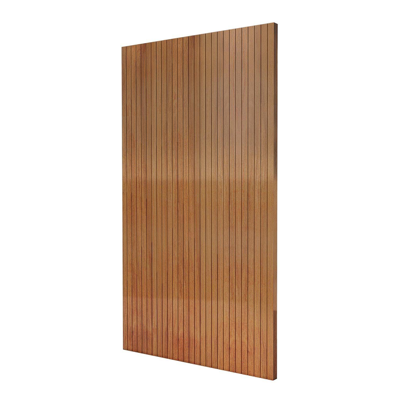 Porta Pivotante de Madeira Modelo pp-Line em Cumaru vertical
