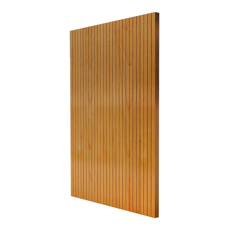Porta Pivotante de Madeira Modelo pp-Line em Tauari vertical